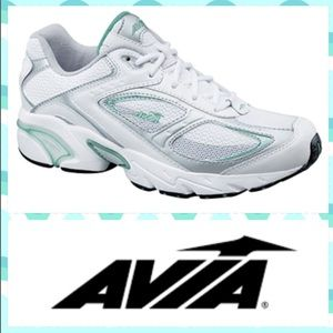 NEW!  Avia Cantilever running shoe white-grey-mint